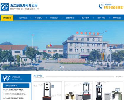 浙江辰鑫湖南分公司网站正式开通上线