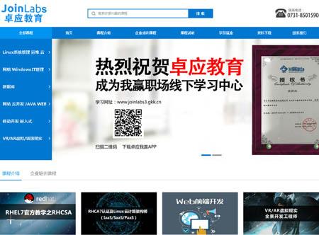 长沙卓应教育咨询有限公司网站制作完成上线