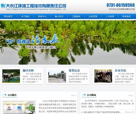 大长江环境工程技术有限责任公司网站建设完成上线