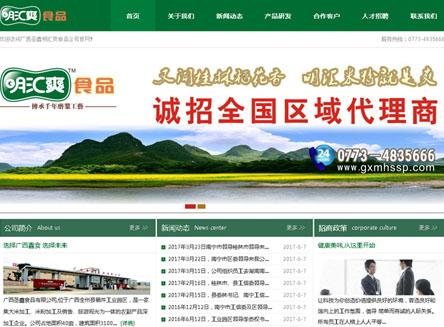 广西圣鑫食品有限公司网站建设完成上线