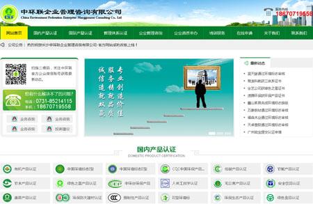 长沙中环联企业管理咨询有限公司网站制作完成上线