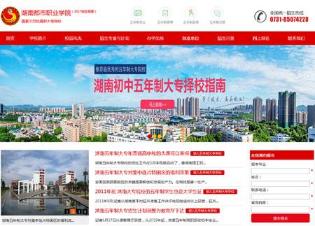 湖南都市职业学院招生网网站制作完成上线