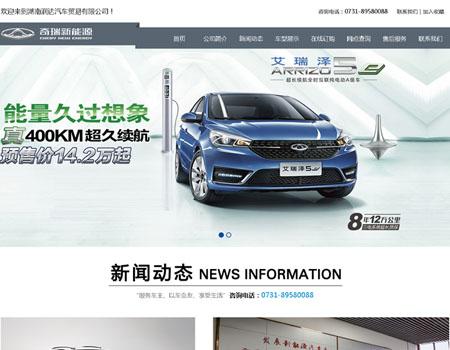 湖南润达汽车贸易有限公司网站建设完成上线