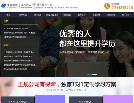 湖南惟盛教育科技有限公司网站建设完成上线