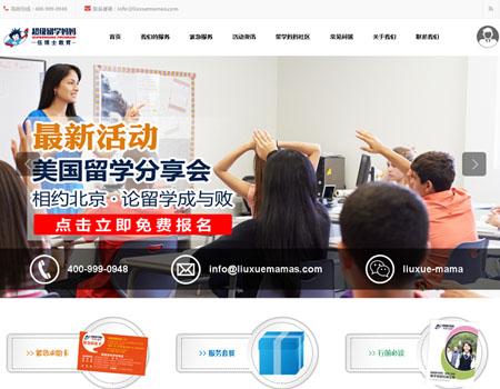 网站建设-超级留学妈妈案例展示