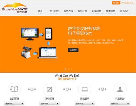 网站建设-湖南省阳光会展案例展示